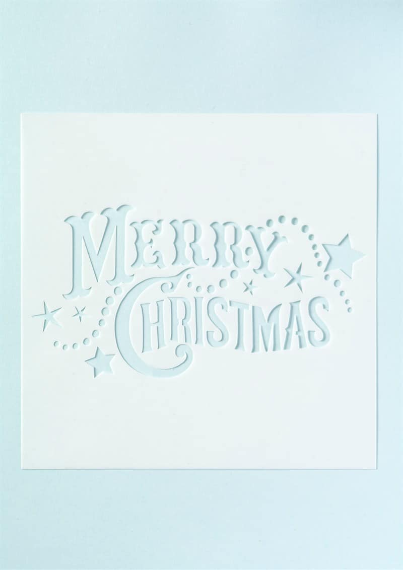 Merry christmas stencil cake craftcake craft for Merry christmas letter stencils