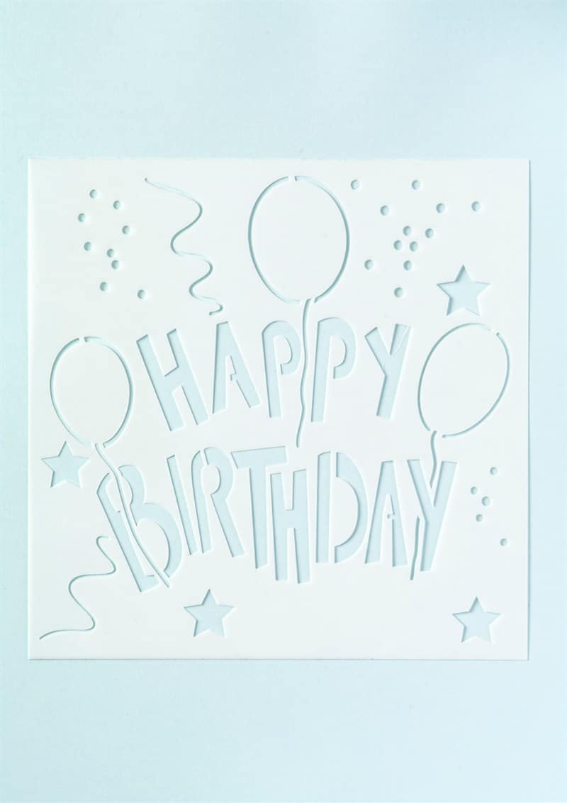 photo regarding Happy Birthday Stencil Printable called Joyful Birthday Stencil
