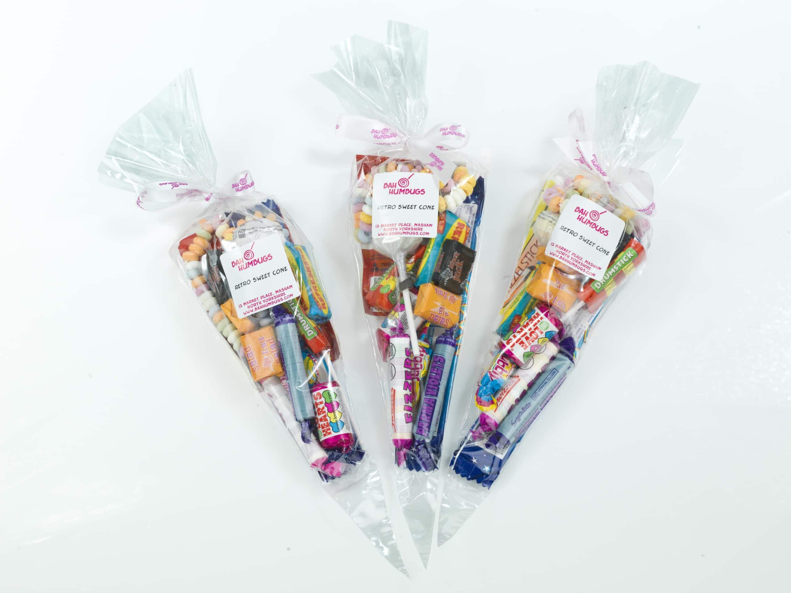 Clear Sweet Cone Bags With Ties 150 X 280mm 50piece Cake