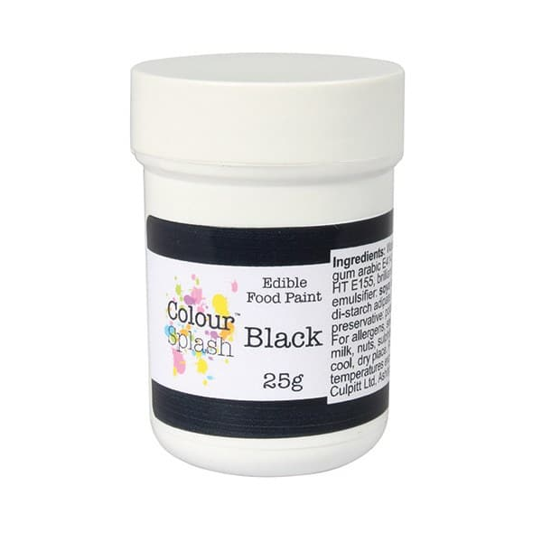 Cake Art Black Edible Colour : Colour Splash Edible Paint   Matt Black Cake Craft