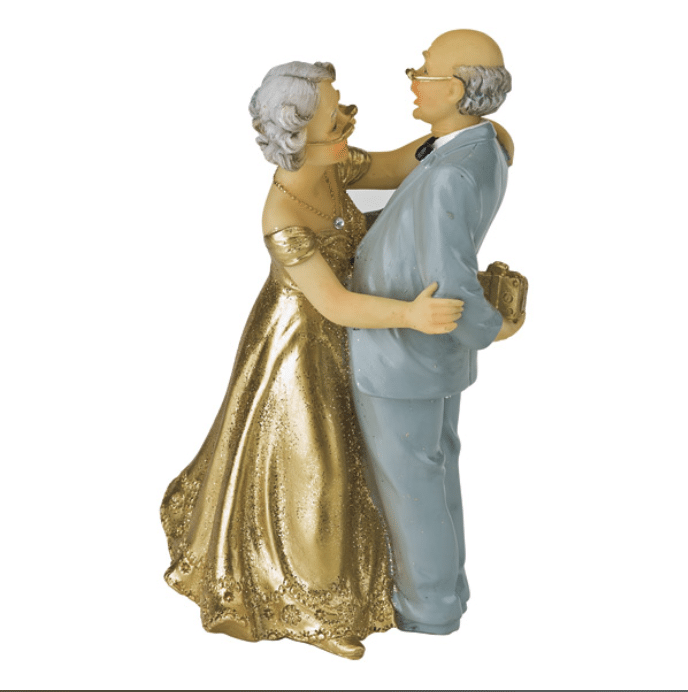 50th wedding anniversary figurine set 1 cake craftcake craft With 50th wedding anniversary figurines